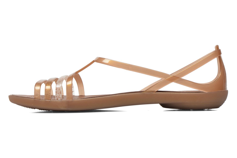 Sandales et nu-pieds Crocs Crocs Isabella Sandal W Marron vue face