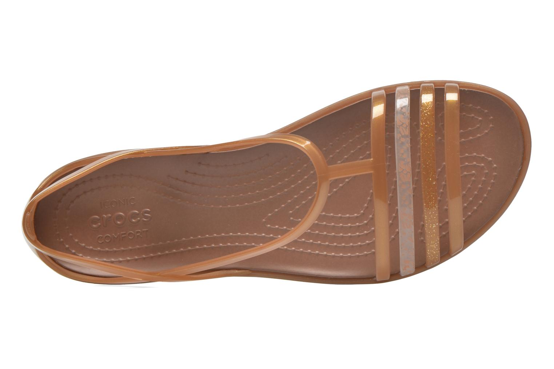 Sandales et nu-pieds Crocs Crocs Isabella Sandal W Marron vue gauche