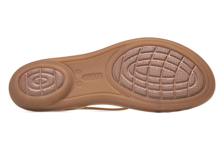 Sandales et nu-pieds Crocs Crocs Isabella Sandal W Marron vue haut