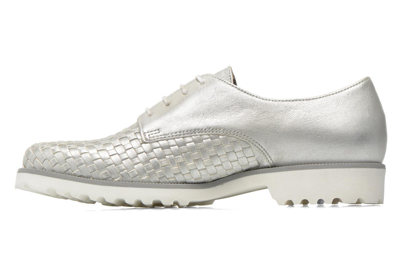 Zapatos con cordones Gabor Garance Plateado vista de frente