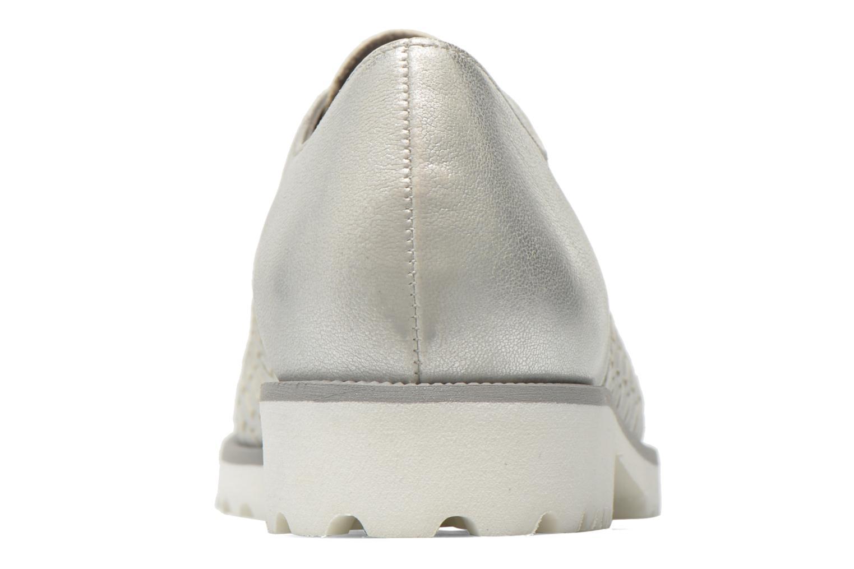 Zapatos con cordones Gabor Garance Plateado vista lateral derecha