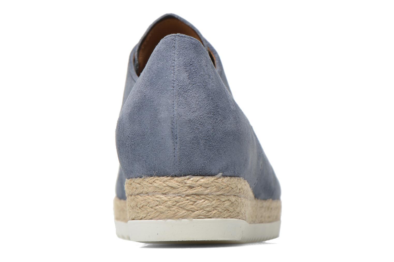 Zapatos con cordones Gabor Lilo Azul vista lateral derecha