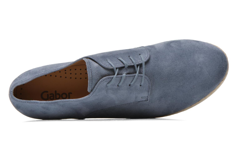Zapatos con cordones Gabor Lilo Azul vista lateral izquierda