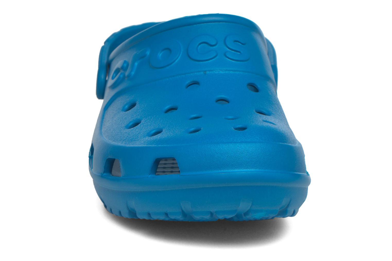 Mules et sabots Crocs Crocs Hilo Clog W Bleu vue portées chaussures