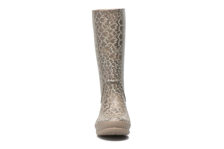 Bottes Crocs Wellie Leopard Print Beige vue portées chaussures
