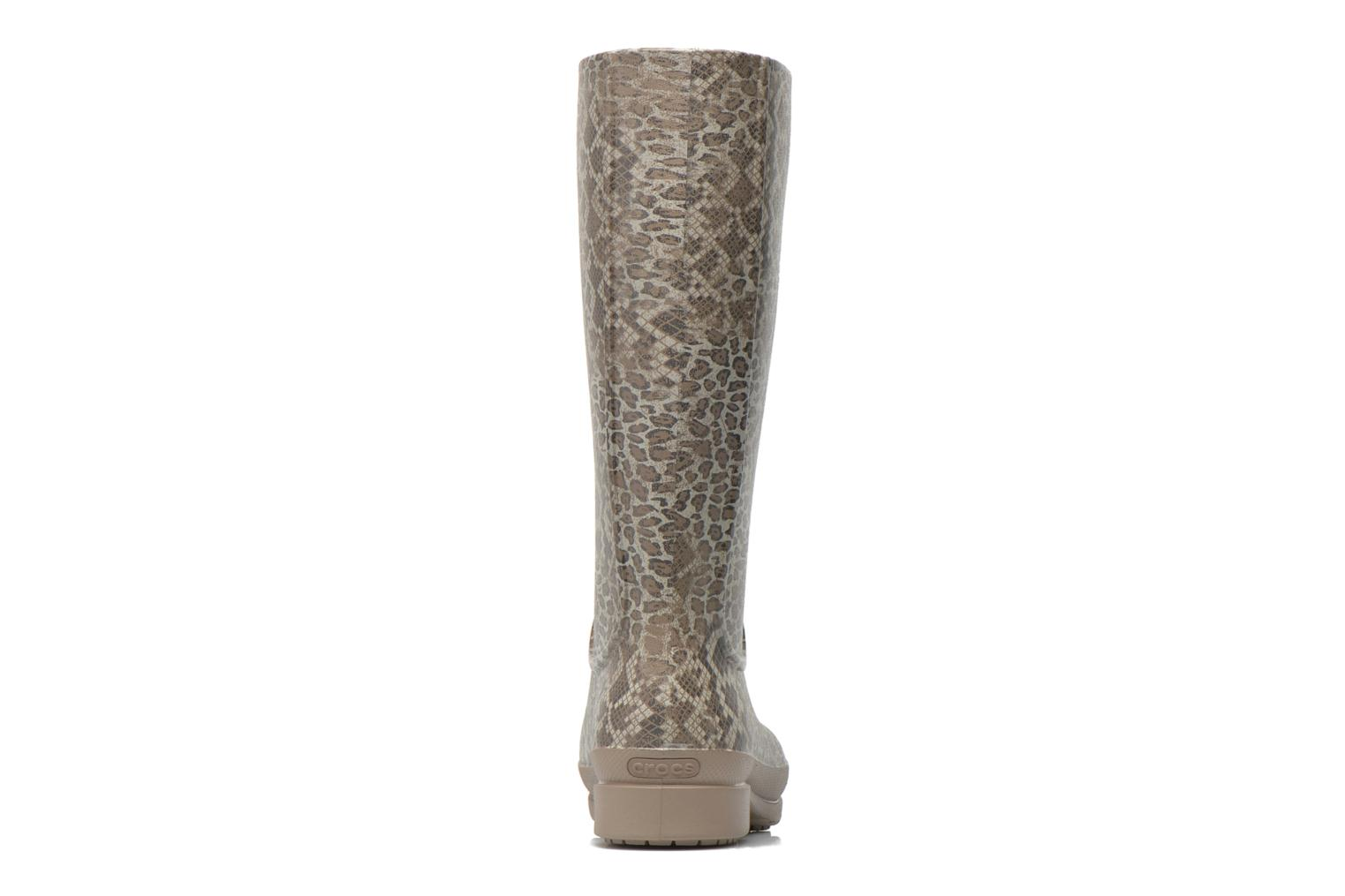 Boots & wellies Crocs Wellie Leopard Print Beige view from the right