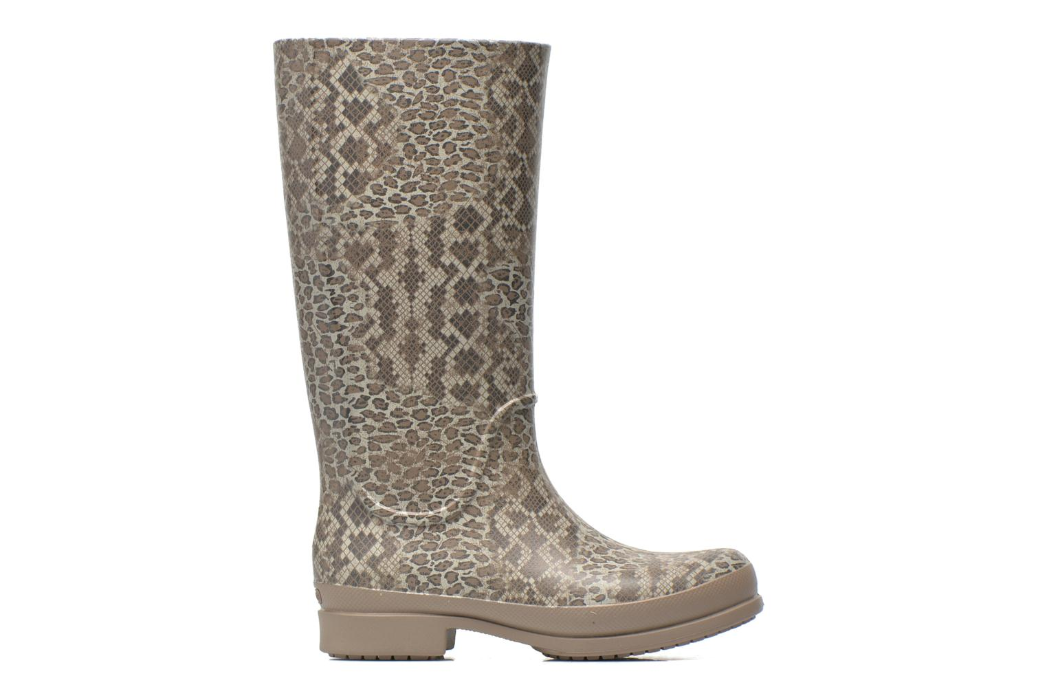 Boots & wellies Crocs Wellie Leopard Print Beige back view