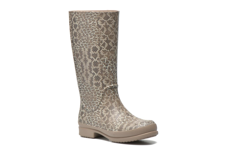 Bottes Crocs Wellie Leopard Print Beige vue détail/paire