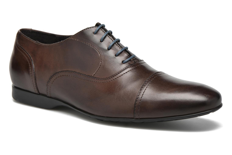 Zapatos con cordones Mr SARENZA Nathan Marrón vista lateral derecha