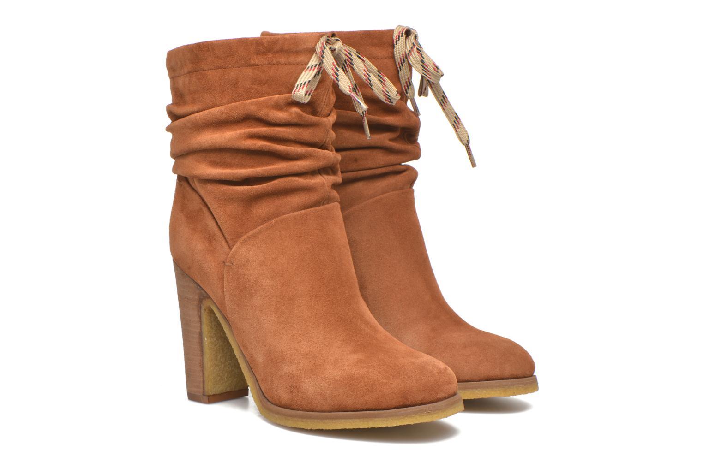 Bottines et boots See by Chloé Yvil Orange vue 3/4