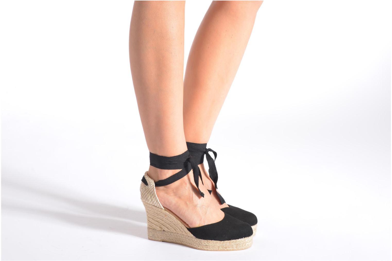 Sandalen Georgia Rose Dasoupe schwarz ansicht von unten / tasche getragen