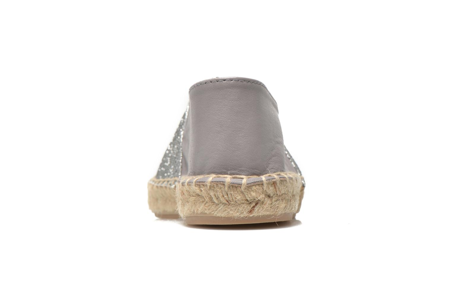 Espadrilles Georgia Rose Dapacho Silver view from the right