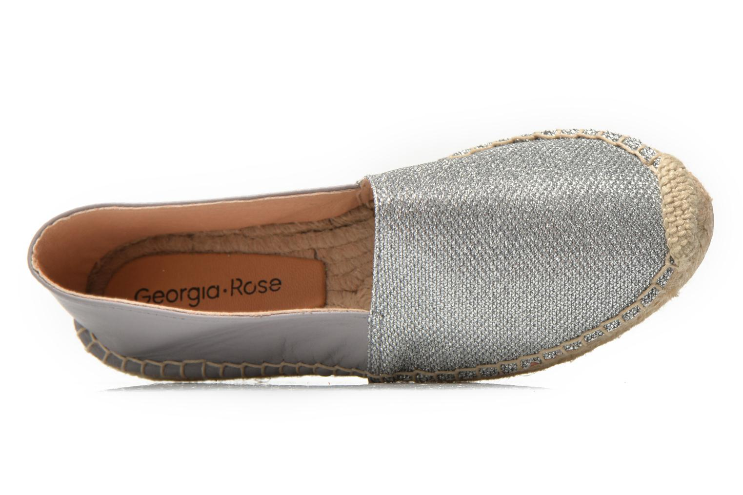 Espadrilles Georgia Rose Dapacho Silver view from the left