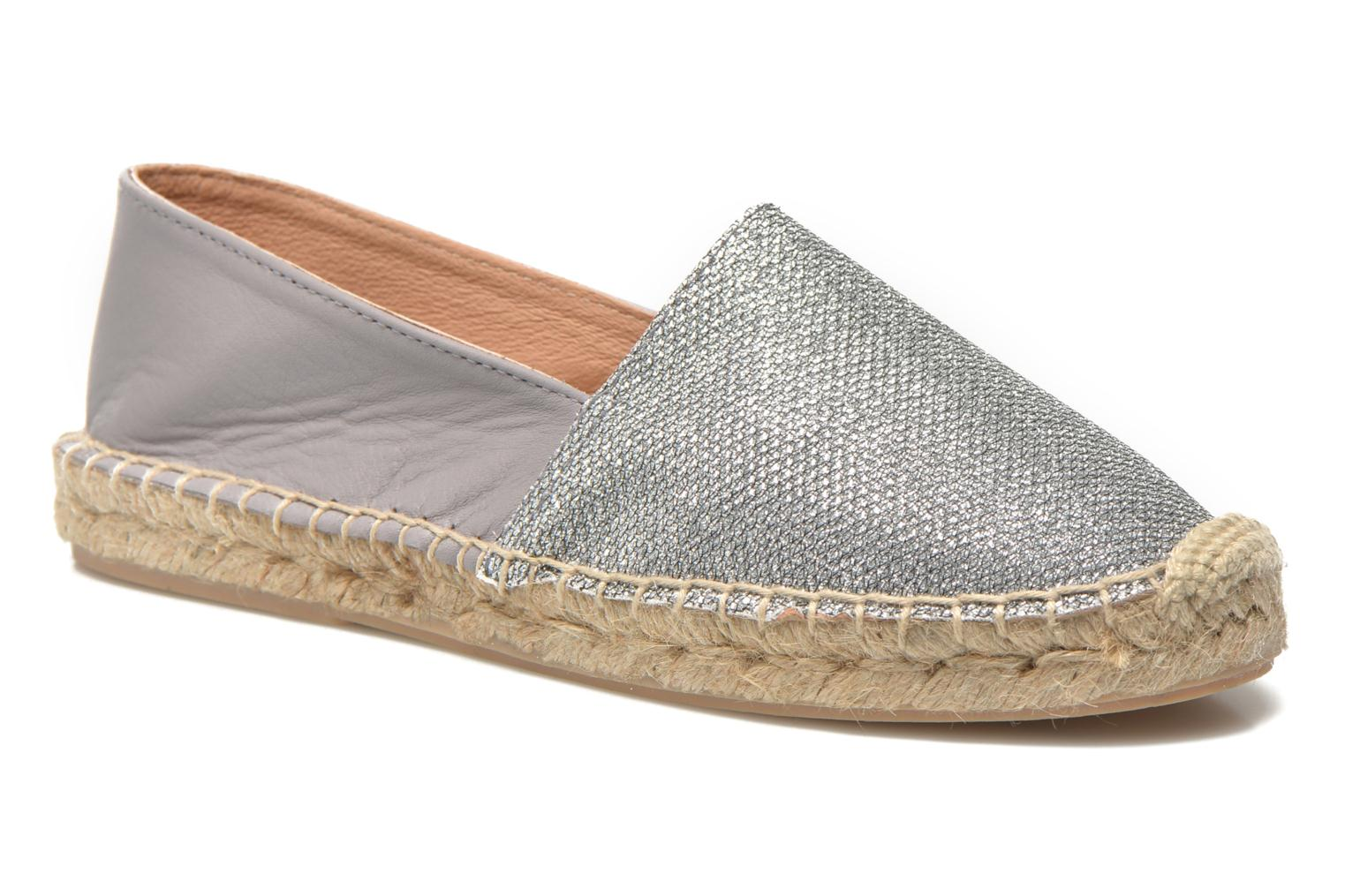 Espadrilles Georgia Rose Dapacho Silver detailed view/ Pair view