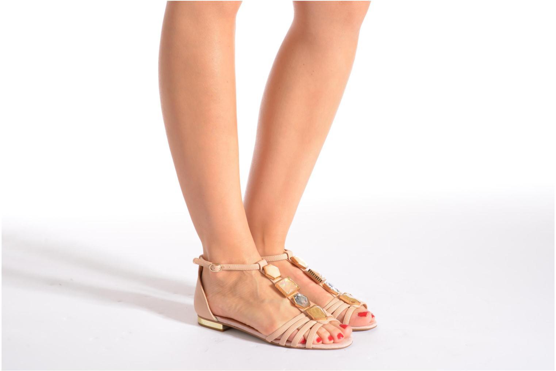 Sandales et nu-pieds Aldo Lilia Beige vue bas / vue portée sac