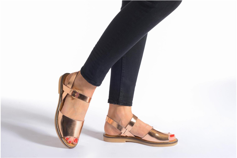 Sandales et nu-pieds Aldo Roncari Rose vue bas / vue portée sac