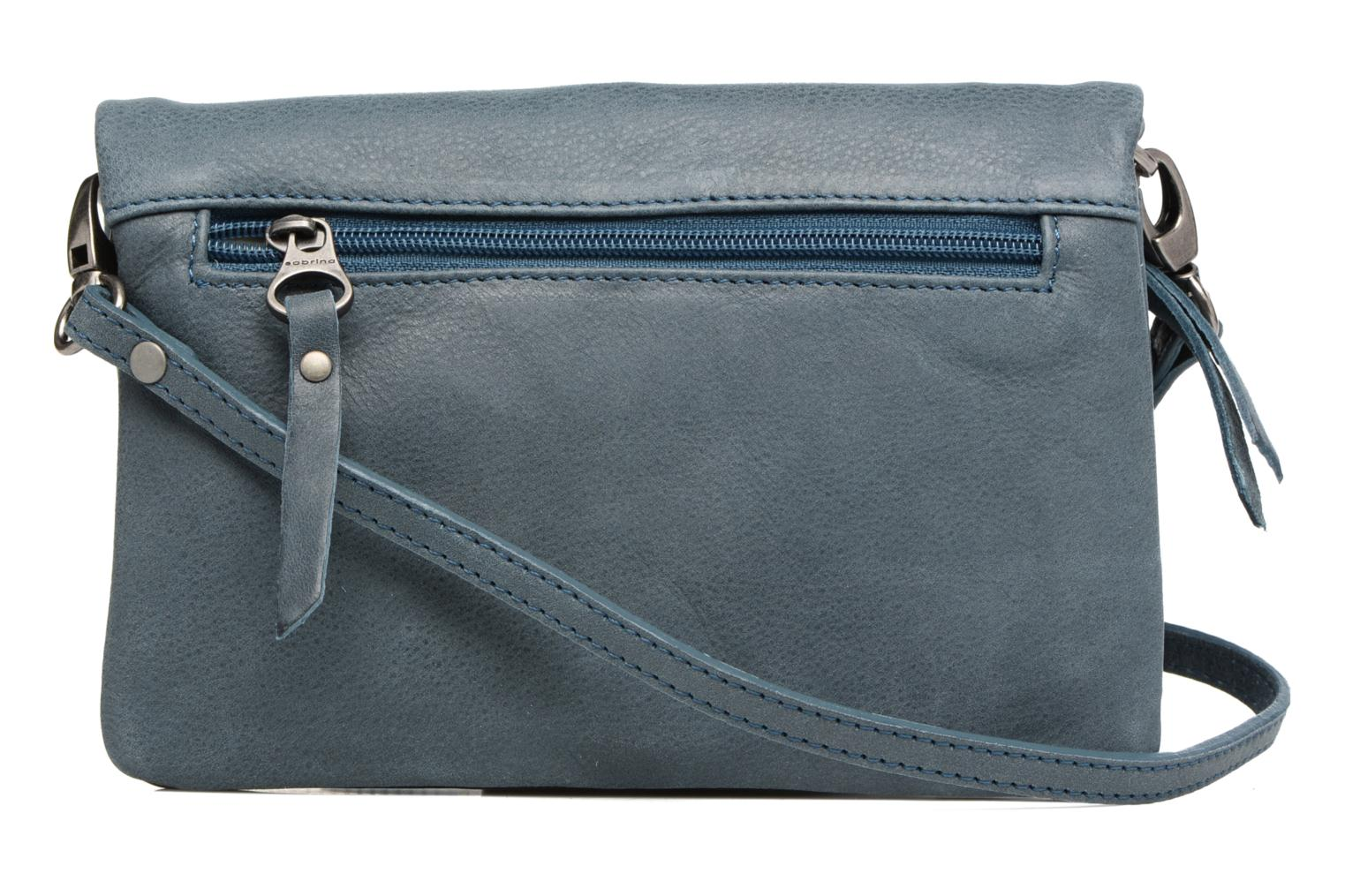 Clutch bags Sabrina Leontine Blue front view