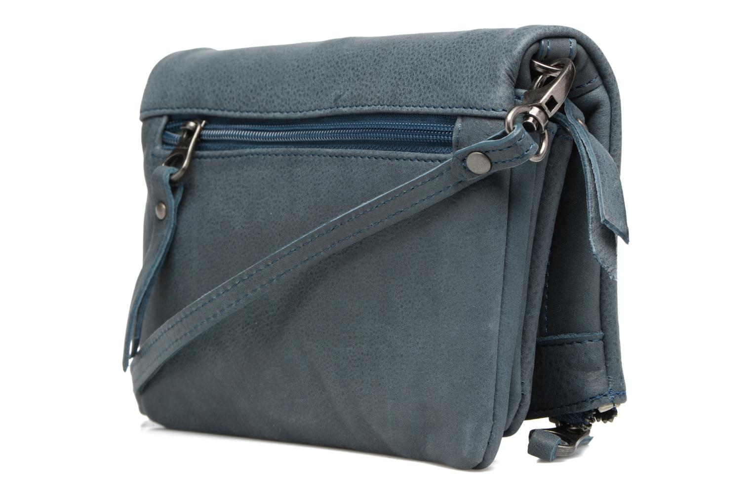 Clutch bags Sabrina Leontine Blue view from the right