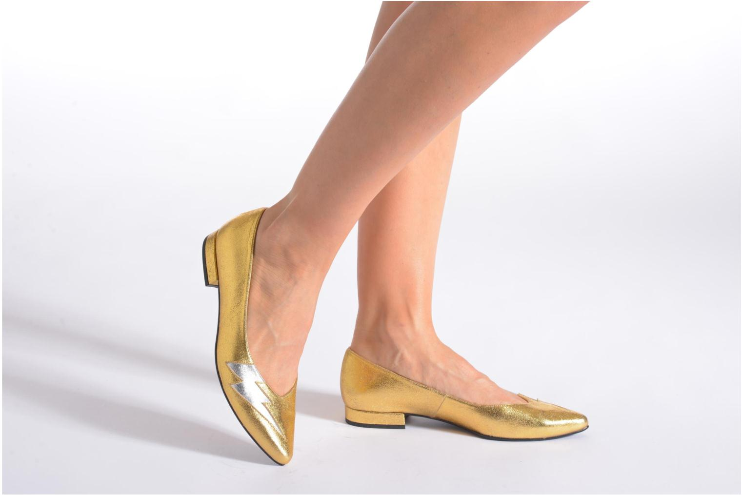 Ballet pumps Made by SARENZA Ziggy Baby #1 Bronze and Gold view from underneath / model view