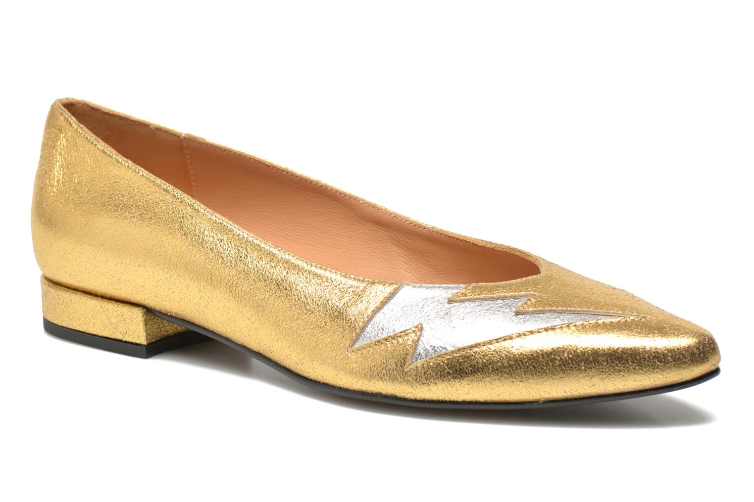 Ballet pumps Made by SARENZA Ziggy Baby #1 Bronze and Gold front view