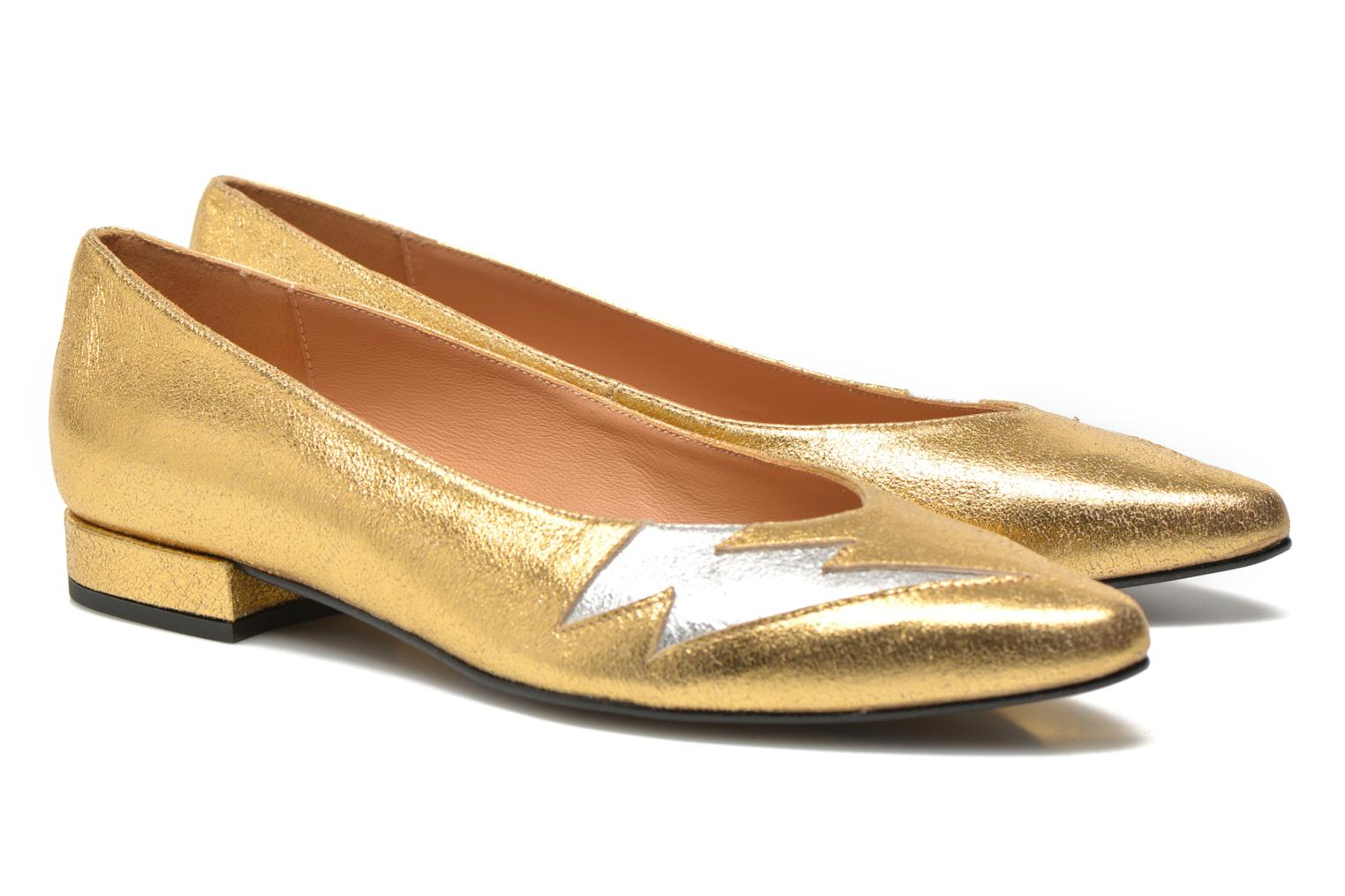 Ballet pumps Made by SARENZA Ziggy Baby #1 Bronze and Gold view from the right