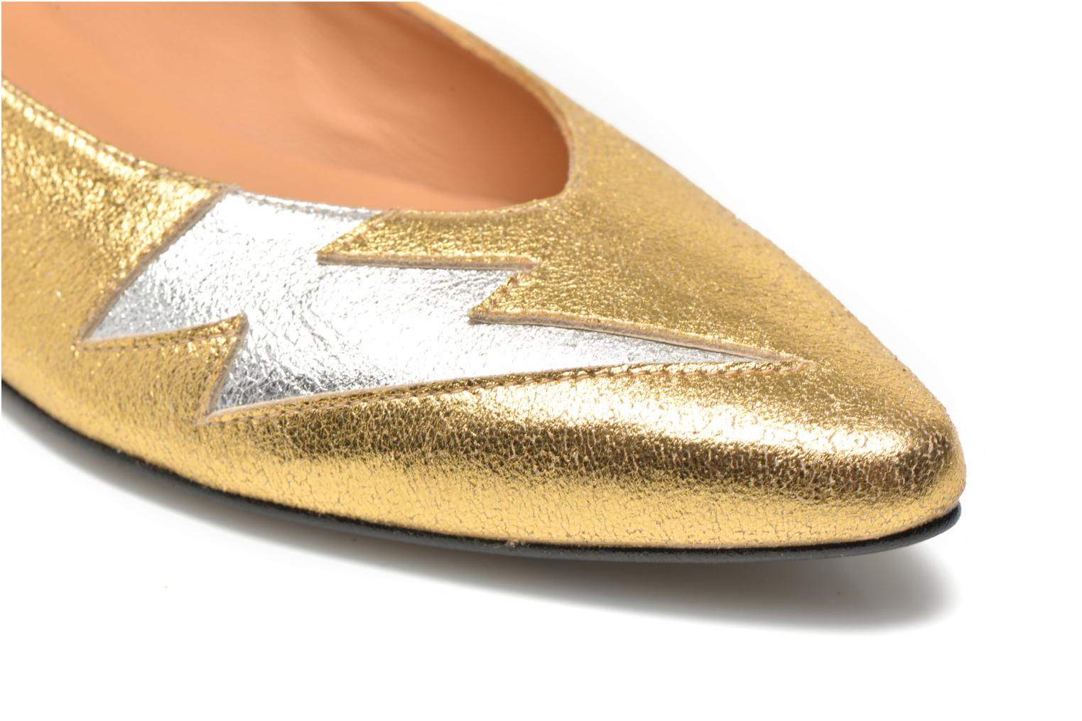 Ballet pumps Made by SARENZA Ziggy Baby #1 Bronze and Gold back view