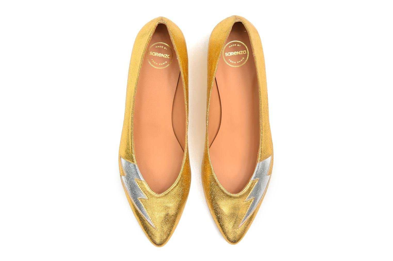 Ballet pumps Made by SARENZA Ziggy Baby #1 Bronze and Gold view from above