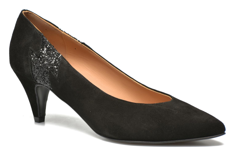 Glossy Cindy #5 Ante nero + paillettes noir