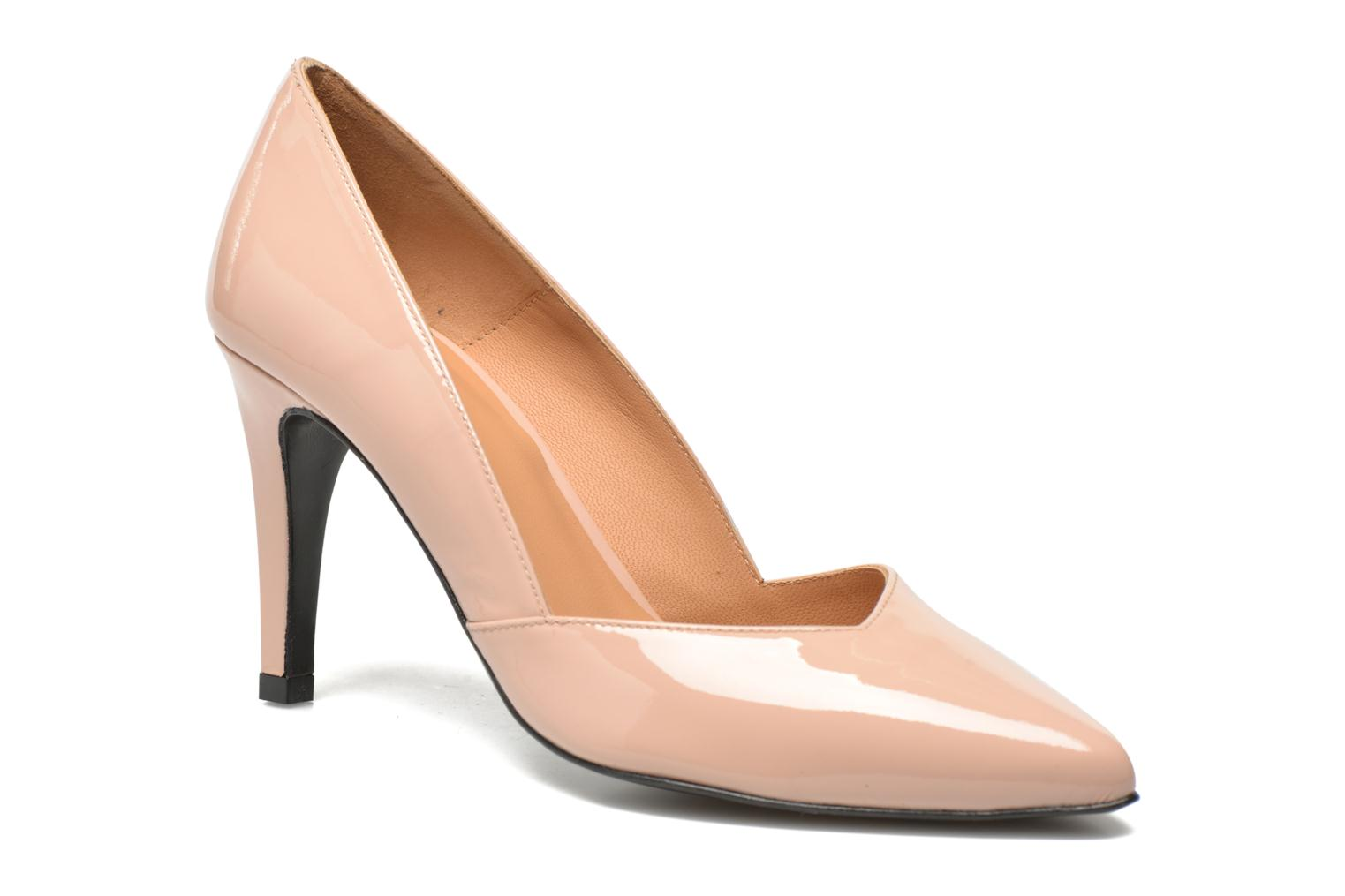High heels Made by SARENZA Glossy Cindy #11 Beige front view