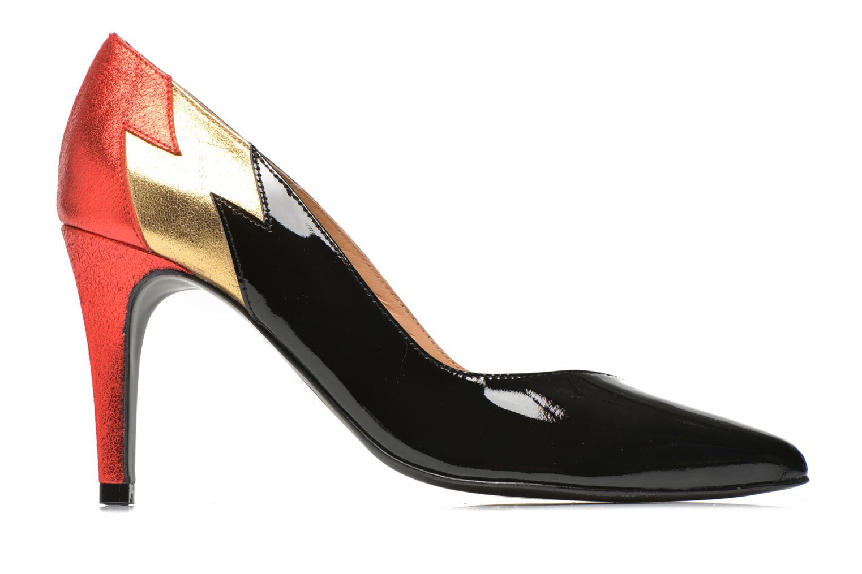 Glossy Cindy #3 Vernis noir + polvore gold + polvore red