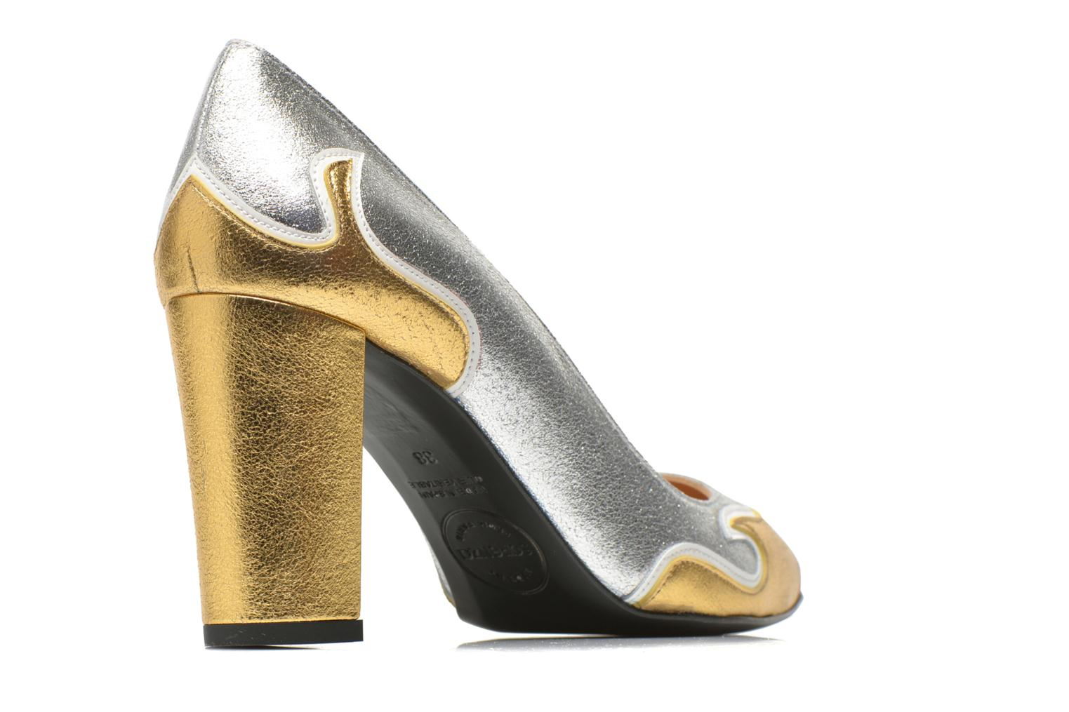 Pumps Made by SARENZA Glossy Cindy #2 gold/bronze schuhe getragen