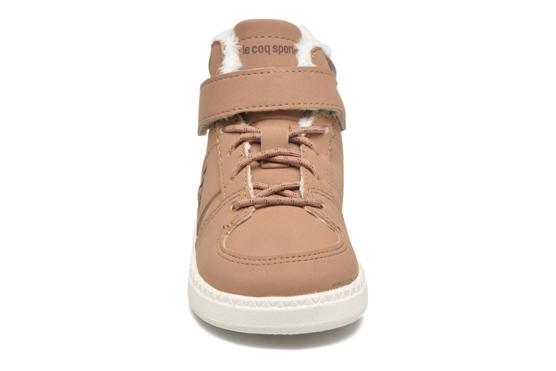 Baskets Le Coq Sportif Rebond Mid Inf Winter Beige vue portées chaussures