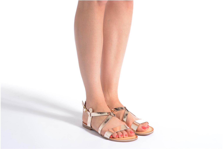 Sandales et nu-pieds Gioseppo Allegri Noir vue bas / vue portée sac