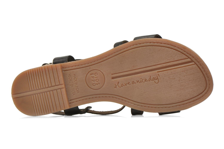 Sandales et nu-pieds Gioseppo Allegri Noir vue haut