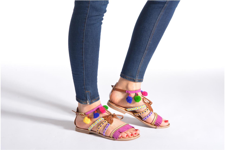 Sandales et nu-pieds Gioseppo Sia Multicolore vue bas / vue portée sac