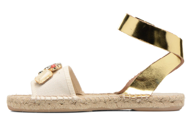 Sandales et nu-pieds Gioseppo Zaogli Or et bronze vue face