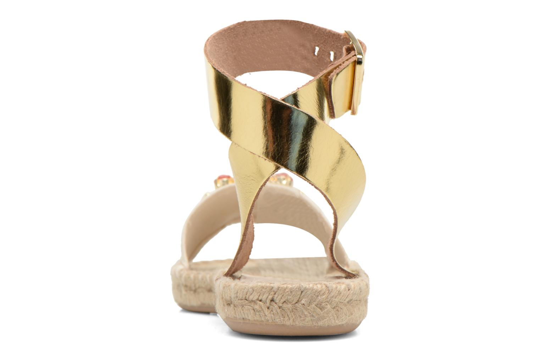 Sandales et nu-pieds Gioseppo Zaogli Or et bronze vue droite