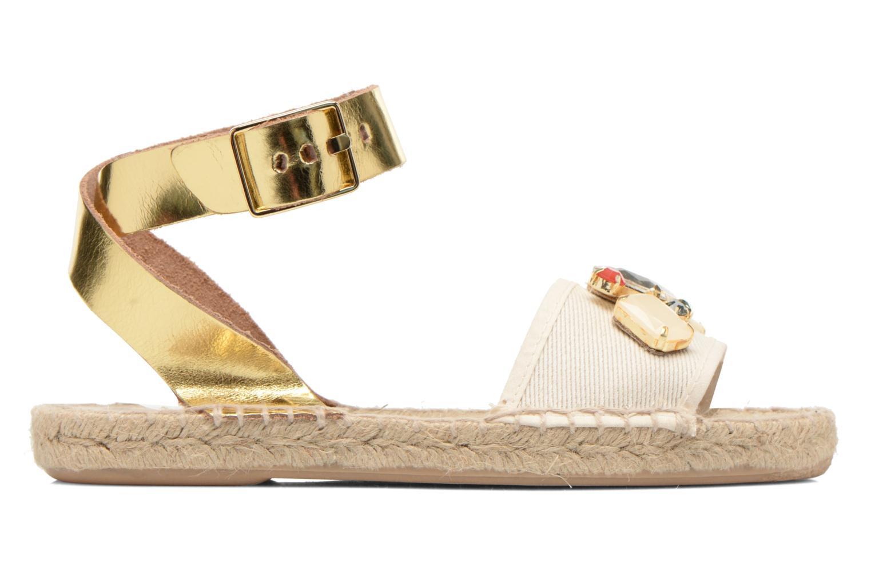 Sandales et nu-pieds Gioseppo Zaogli Or et bronze vue derrière