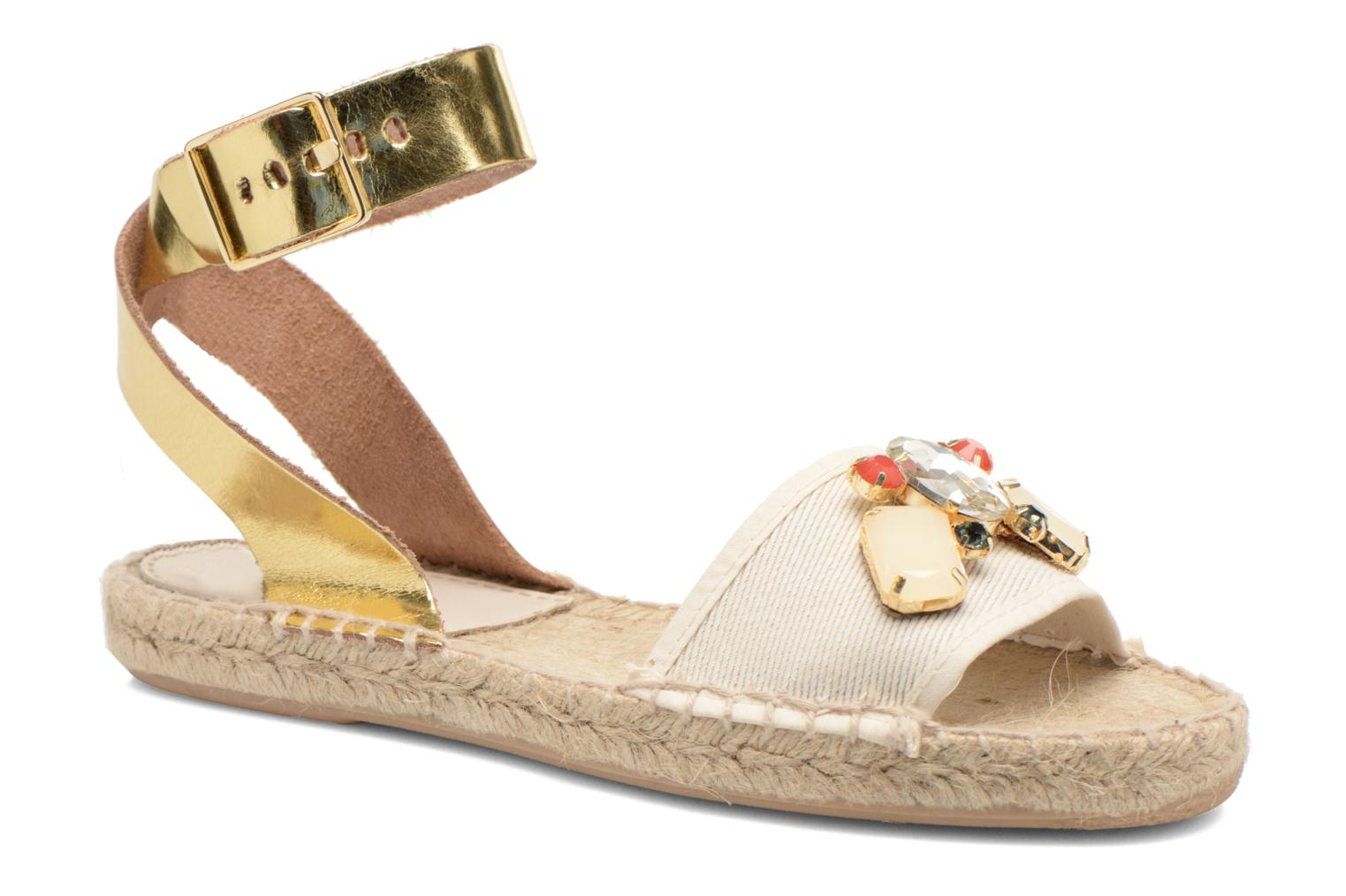Sandals Gioseppo Zaogli Bronze and Gold detailed view/ Pair view