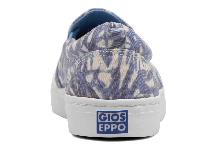 Baskets Gioseppo Nuta Bleu vue droite
