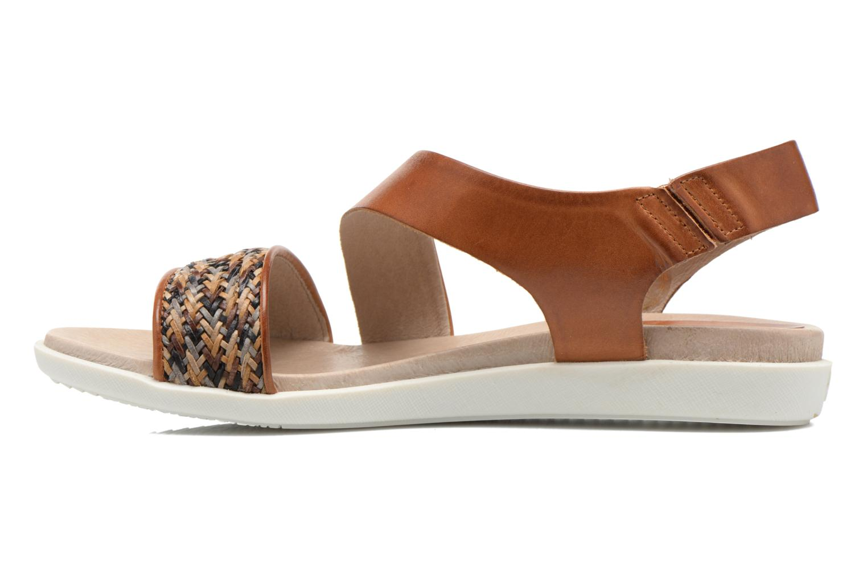 Sandales et nu-pieds Pikolinos Antillas W0H-0803 Marron vue face