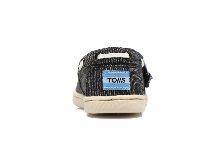Baskets TOMS Bimini Espadrille Noir vue droite