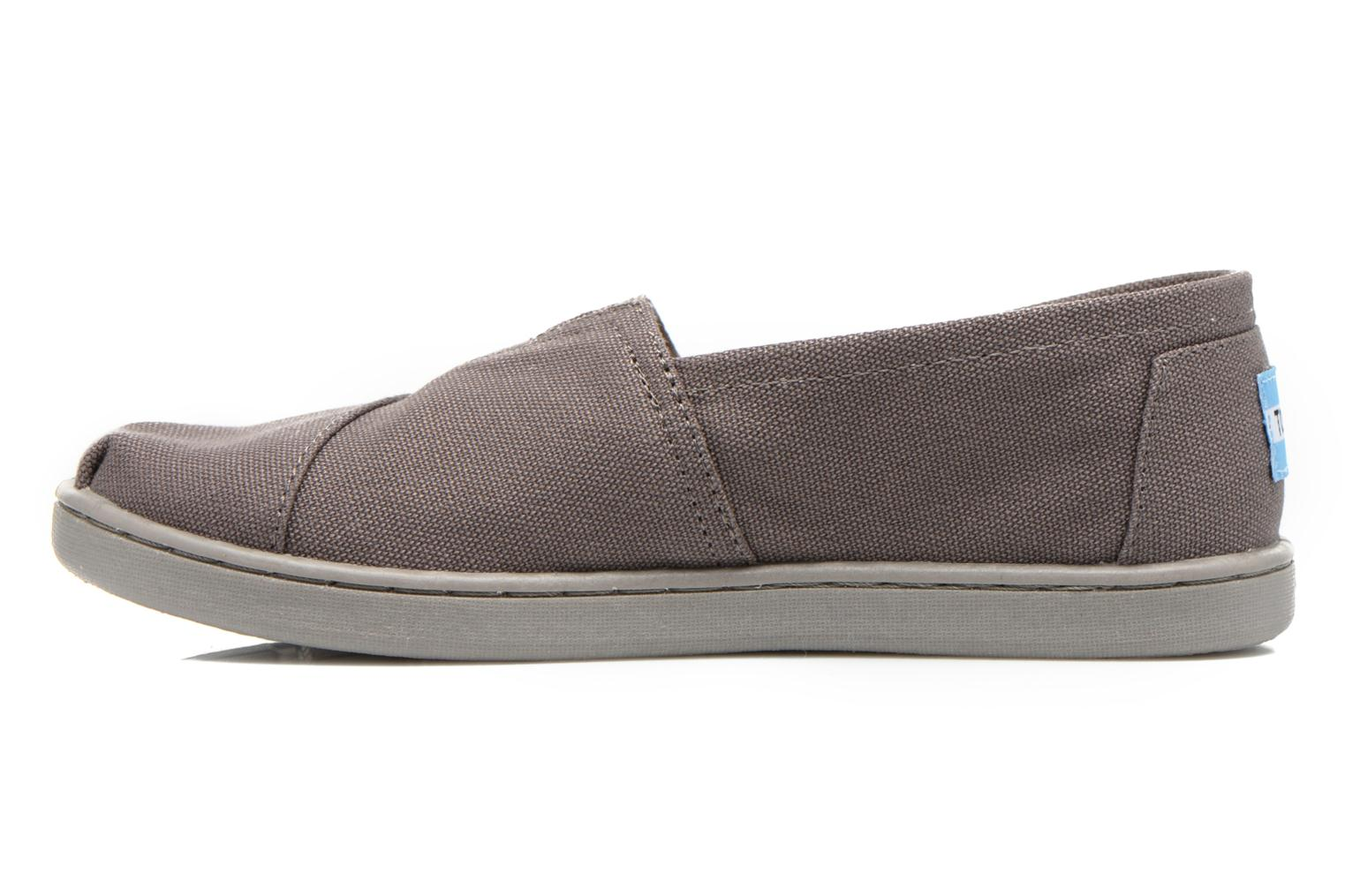 Baskets TOMS Canvas Classics Gris vue face