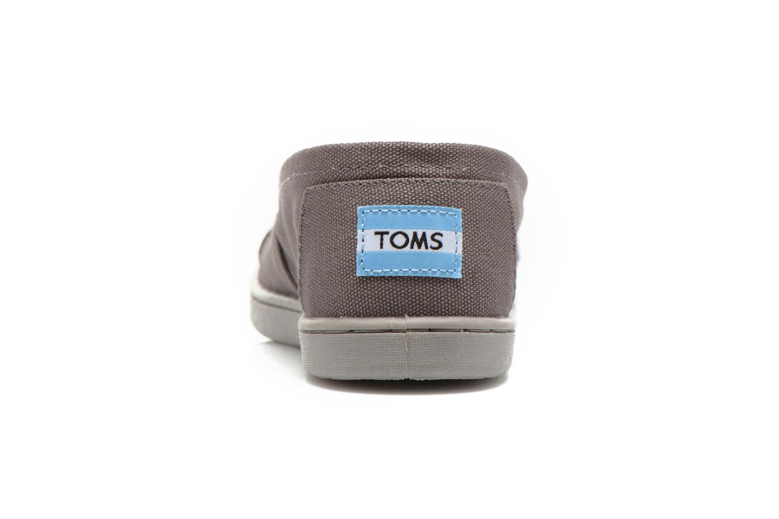 Trainers TOMS Canvas Classics Grey view from the right