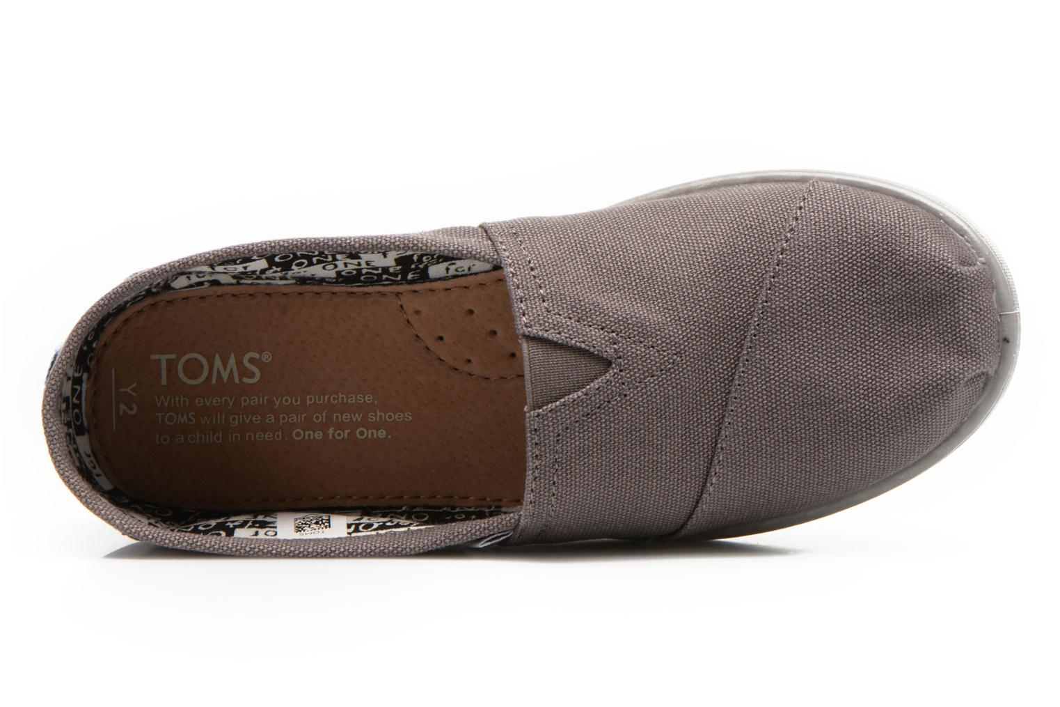 Trainers TOMS Canvas Classics Grey view from the left