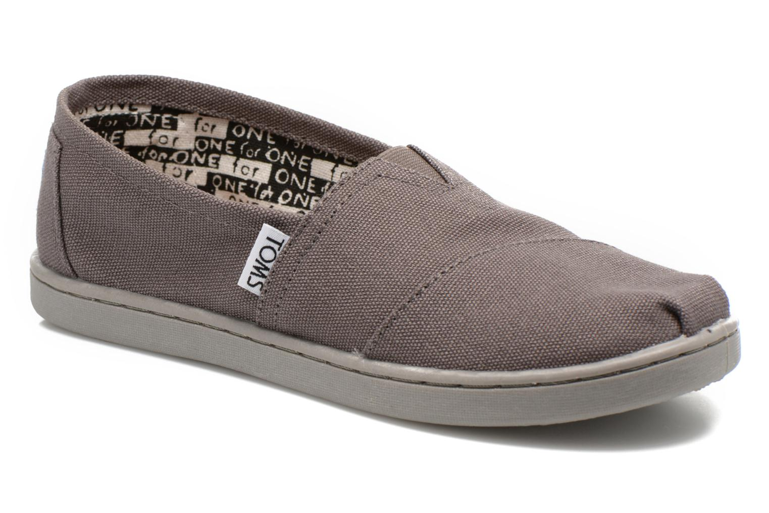 Baskets TOMS Canvas Classics Gris vue détail/paire