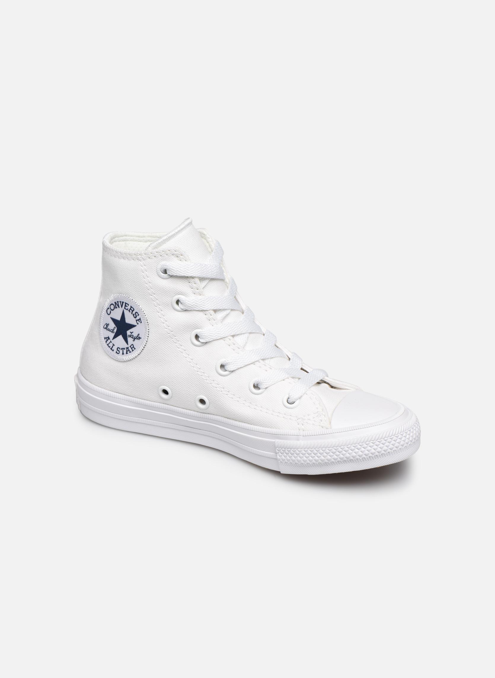 Deportivas Converse Chuck Taylor All Star II Hi Blanco vista de detalle / par