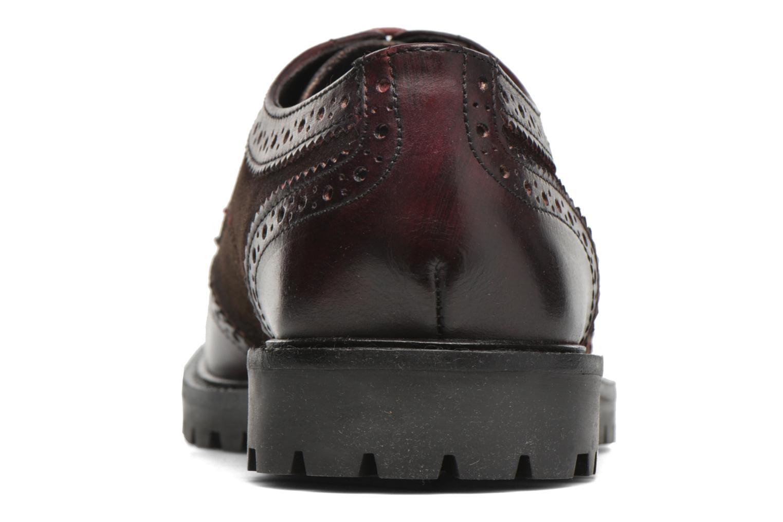 Chaussures à lacets Base London Conflict Bordeaux vue droite