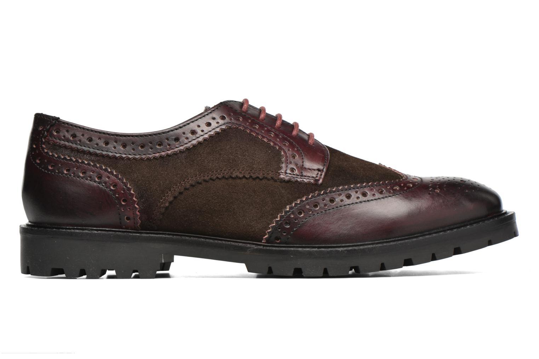 Chaussures à lacets Base London Conflict Bordeaux vue derrière