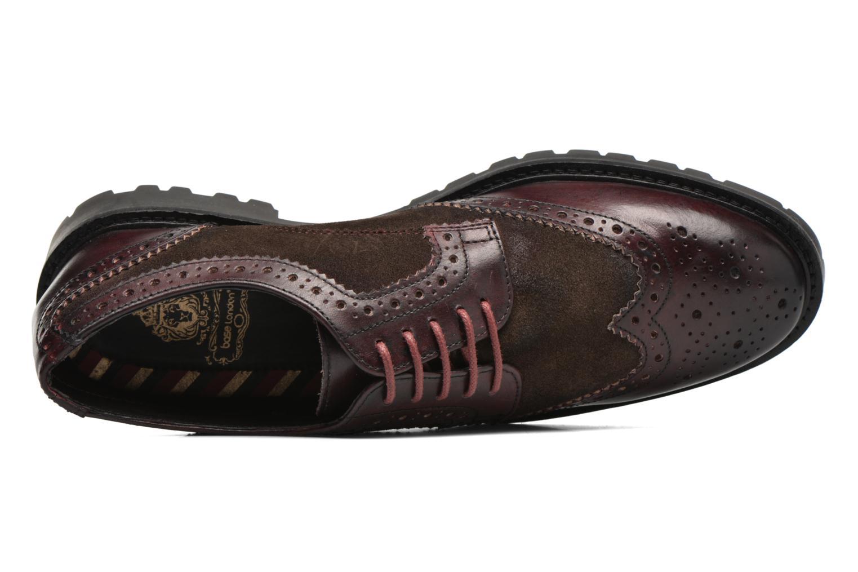 Chaussures à lacets Base London Conflict Bordeaux vue gauche
